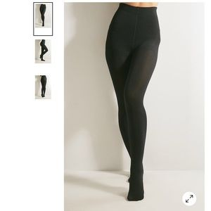 Urban Outfitters Fleece-Lined Footed Tights, M/L